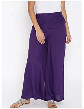 Indian Handicrfats Export DARZI Flared Women's Purple Trousers