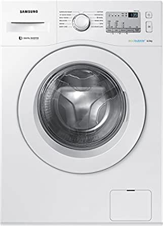 Samsung 6 kg Fully-Automatic Front Loading Washing Machine (WW60M204KMA/TL, White)