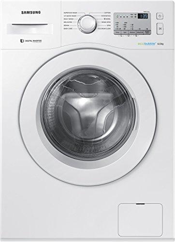 Samsung 6 kg Inverter Fully-Automatic Front Loading Washing Machine (WW60M204KMA/TL, White, Inbuilt Heater)