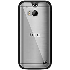 Amzer 97113 SlimGrip Hybrid Case - Black for HTC One M8