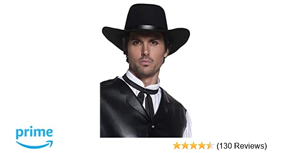 9286a8bd440 Smiffys Western Authentic Gunslinger Hat  Smiffys  Amazon.co.uk  Toys    Games