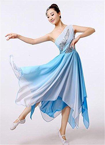 Frau nationale Tanz Kostüm Kleid / Ballett zeigen / traditionelle Tanzanzug , blue , l