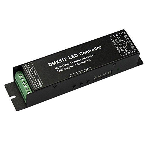 JOYLIT DC12V 24V Digitalanzeige 4 Kanal 4x4A DMX512 Decodierer LED Kontroller Treiber für LED RGB 5050 3528 LED Streifen