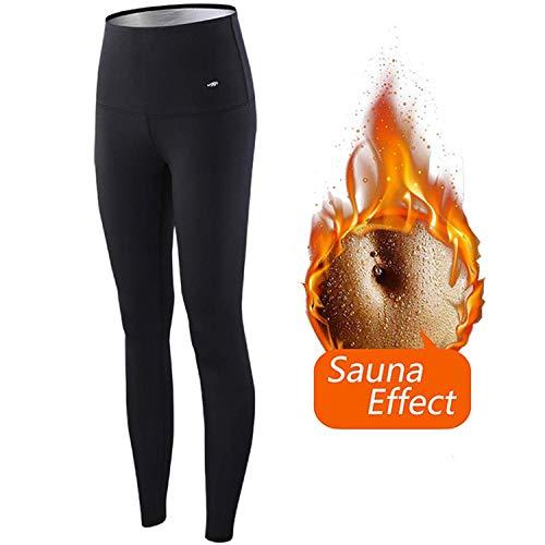 Loffu pantaloni sauna donne yoga fitness,hot shaper pantaloni dimagrante in neoprene termico,cintura modellante e dimagrante sauna sudore (m)