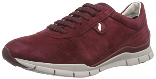 Geox D SUKIE A, Sneakers basses femme Rouge - Rot (C7005BORDEAUX)