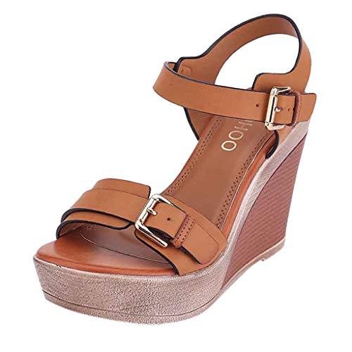 LILICAT✈✈ Mujer Cuña Alpargatas Plataforma de Tacón Alto Flip Flop Verano Elegante Zapatos Zapatillas...