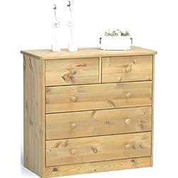 Steens 17801230 Mario - Cómoda de madera pino maciza, lavada y engrasada (73 x 78 x 35 cm)