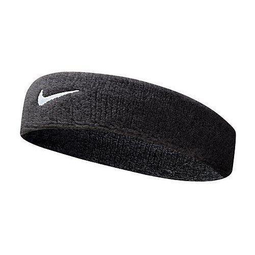 Nike Swoosh, Cinta para Deportes, para Tenis, Squash, bádminton, Gimnasio, Negro, Talla única