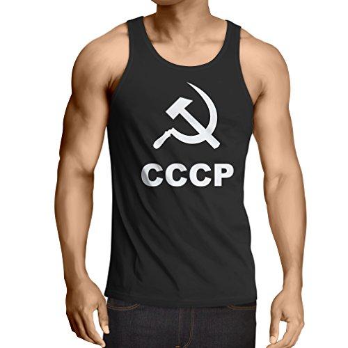 lepni.me Weste UDSSR ССССР Sowjetunion sozialistische Hammer und Sichel (X-Large Schwarz Weiß)