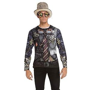 Viving Costumes Viving costumes231232Vapor Punk Hombres Camiseta de Manga Larga (XL)