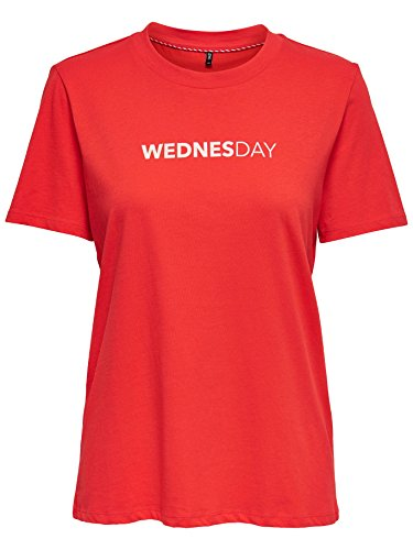 Only ONLWEEKDAY T-SHIRT MainApps Rosso