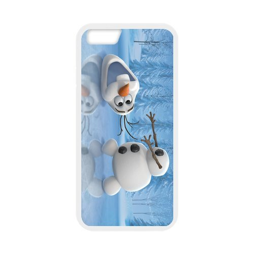 Everlasting fashion and hard cover case pC tPU cover for your phone iPhone 6 of frozen cute snowman olaf