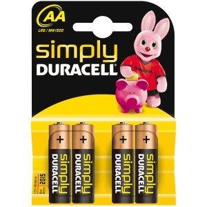 20 x Duracell-simply-pile aA-lot de 4