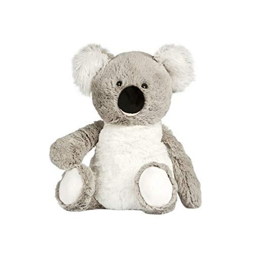 PELUCHO Koala - Botella de plástico para bebé, Color Gris, Blanco