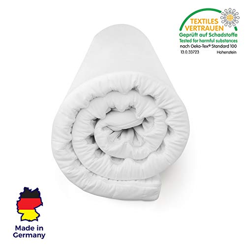 Mister Sandman weicher Matratzentopper aus Visco für mehr Schlafkomfort- atmungsaktive und e x tra-weiche Matratzenauflage mit Reißverschluss, 160 x 200 cm, Dicke 5 cm -