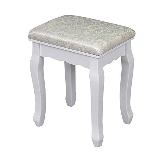 Songmics toletta con specchio e rst sgabello colore bianco negozio di tavoli consolle - Toletta con specchio ...