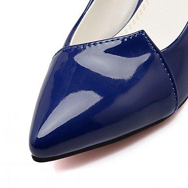 WSX&PLM Da donna-Tacchi-Matrimonio Ufficio e lavoro Formale Casual Serata e festa-Plateau Innovativo Comoda-A stiletto Plateau-Sintetico Di corda royal blue
