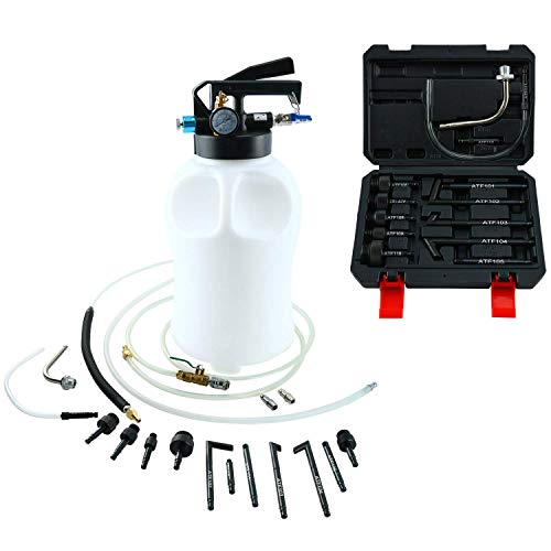 FreeTec - Estrattore di Olio e Liquido, Pompa dell'olio del Cambio pneumatica da 6 Litri, con Adattatore ATF da 14 Pezz