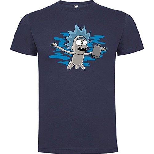 Camiseta de Rick and Morty Divertida Friky Smith Tiny Nirvana Mujer XL Denin