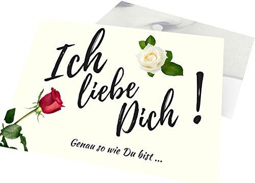 Jahrestag Geschenk für sie & ihn – Elegant Ich liebe Dich sagen – Süße Liebeserklärung für Frau & Mann – Coole Geschenkidee zum Finden Lassen – 15 exklusive Deko Überraschungs-Karten