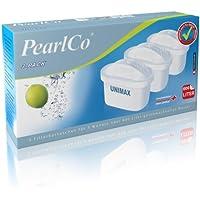 PearlCo = unimax = Confezione 3 filtri per aqua (compatibile Brita® Maxtra®)