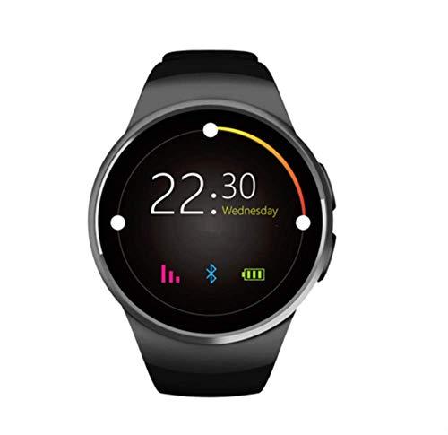 Montre Connectée pour Smartphone Apple iOS Android et Windows Bluetooth 4.0 Montre Intelligente avec Support Carte SIM et Fonction Fitness Couleur Noir