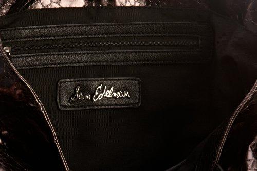 Sam Edelman Amelie Tote Handbag Slick Python 5301SF12SP, Sac à main femme Argent-TR-I2-1