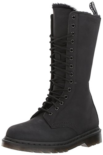 Dr. Martens Damen 1b99 FL Black Cascade Split Stiefel, Schwarz (Black), 42 EU (Dr. Eye 10 Martens)
