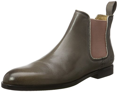 Melvin & Hamilton Damen Susan 10/R Chelsea Boots, Grau (Salerno Rope/Binding Metallic, Ela. Rose, Hrs), 39 EU
