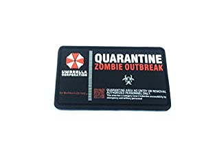 Umbrella Corporation Quarantine Zombie Outbreak Airsoft Paintball PVC Moral Patch