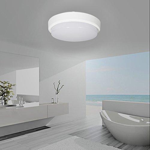 J & C® 8 W – Lámpara LED de techo IP54 zonas húmedas lámpara ...