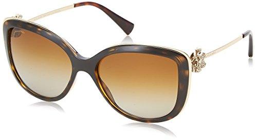 Bvlgari 6094, occhiali da sole unisex adulto, nero (dark havana), 57