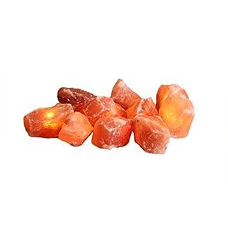 Himalaya Salt Dreams–Cristales de Sal con iluminación Bombilla Cristales, 10Unidades, Incluye luz Cadena, Cristales de Sal, Naranja, 20x 20x 9cm, 2Unidades de Medida