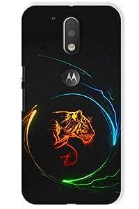 IndiaRangDe Printed Back Cover For Motorola Moto G Plus 4th Generation Moto G4 Plus Black