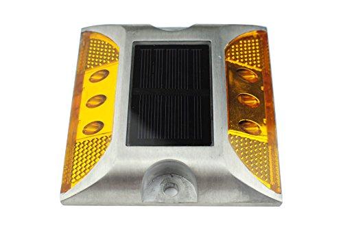 BSOD lumière solaire LED Route Stud Nouveaux produits réfléchissant au sol solaire LED Aluminium foroutdoor Chemin de Dock d'avertissement LED, jaune