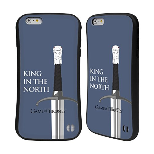 Ufficiale HBO Game Of Thrones Drago Dracarys Grafiche Case Ibrida per Apple iPhone 7 Plus / 8 Plus Longclaw King North