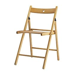 FurnitureXtra Solid Wood Folding Chairs, Indoor Outdoor Banquet Folding Chair Seating (Beech)