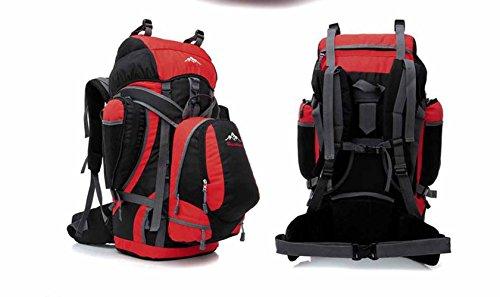 AllureFeng Outdoor-Rucksack wasserdicht und reißfest professionelle Nylon robust Wandern Tasche Travel Leisure Umhängetaschen Red