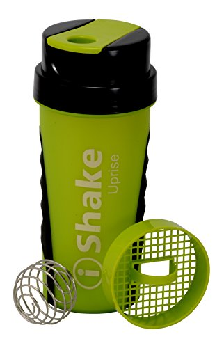 IShake Ronie Plastic Sports Shaker Bottle, 600ml (Yellow)