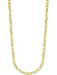 14ct oro Amarillo Brillante Oval collar de enlace con Fancy peces cierre–46centímetros