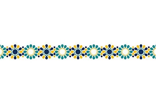 Black Mosaic Tile (Unbekannt Karen Foster Design Black Leaf, 5,1 cm Washi gestanztes Pailio Lace Tape 32.8-feet x 0.59-inches, Tile Yellow Mosaic Starburst)