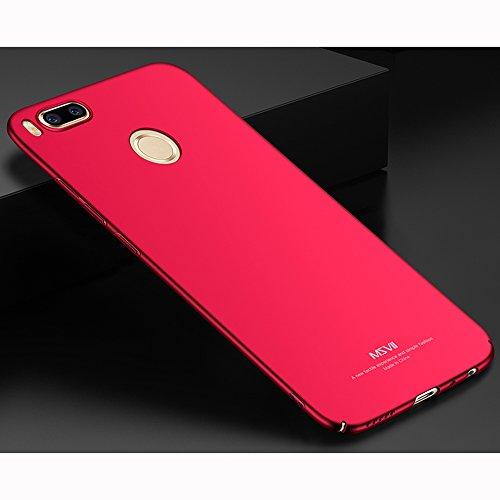 Coque Xiaomi Mi 5X, MSVII® Très Mince Coque Etui Housse Case et Protecteur écran Pour Xiaomi Mi 5X - Violet JY00336 Rouge