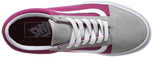 Vans Ua Old Skool, Sneakers Basses Femme Gris (Drizzle/sangria)