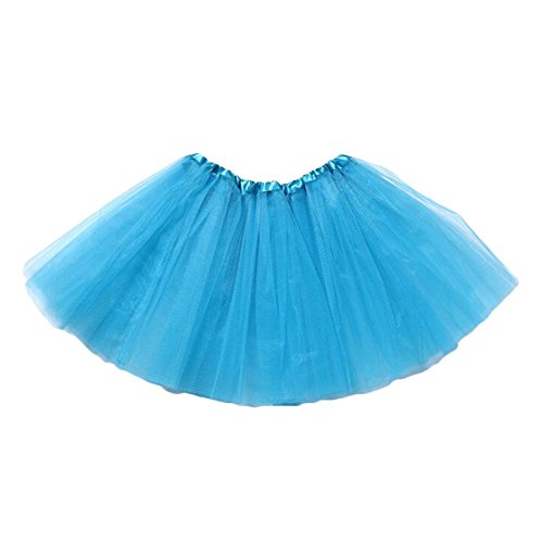 Yying Minifalda Chicas Falda Tutú - Faldas Tul Vestir Ballet Vestido Baile Princesa Faldas Elásticas Azul - De Faldas Vestir