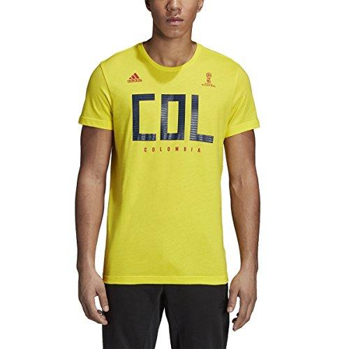 adidas Herren Fußball Kolumbien Tee, Herren, Colombia Tee, gelb - Adidas Fußball Kolumbien