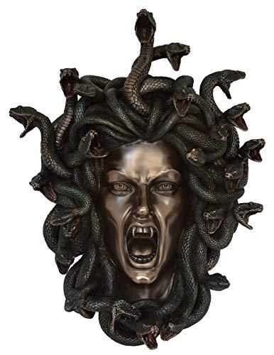 Talos Artifacts Medusa Maske Gorgon Schlange Monster Medousa Schlange Lady - Kaltgussbronze Harz