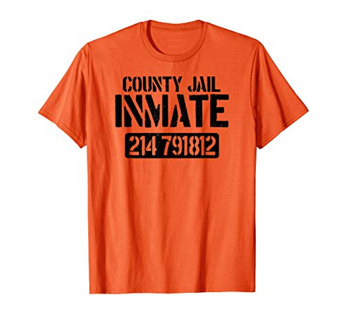 Prisoner County Jail Inmate Halloween Women Costume - Womens Orange Gefangener Kostüm