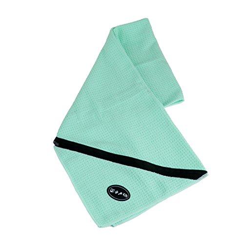 jeanswsb 30,5x 109,2cm Super Saugfähig Schnell Trocknend Handtücher Travel Golf yoga Handtuch mit Reißverschluss Fach halten Handy Schlüssel, damen, himmelblau (Go Go Dance Kostüme)