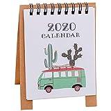 2020 Mini Desk Calendar Stand Up Desktop Animale Del Fumetto Della Carta Desk Calendario Giornaliero Planner Stand Calendario Up Desktop English