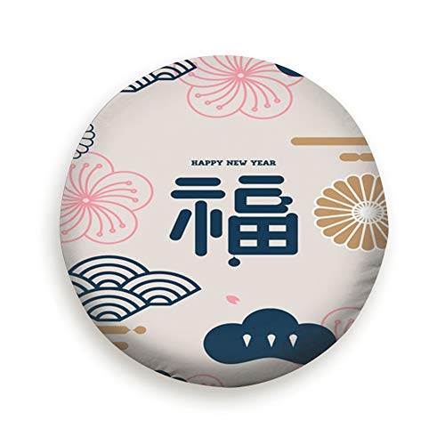 Ye Hua Chinese New Year Design Element 2016 Japan Spare Tire Cover Dust-Proof Universal Spare Wheel Tire Cover Fit for Trailer, RV, SUV and Many Vehicle 14